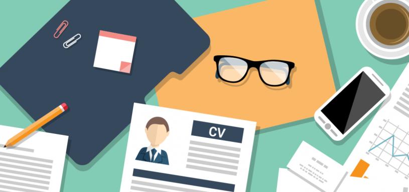 Desktop view of resume